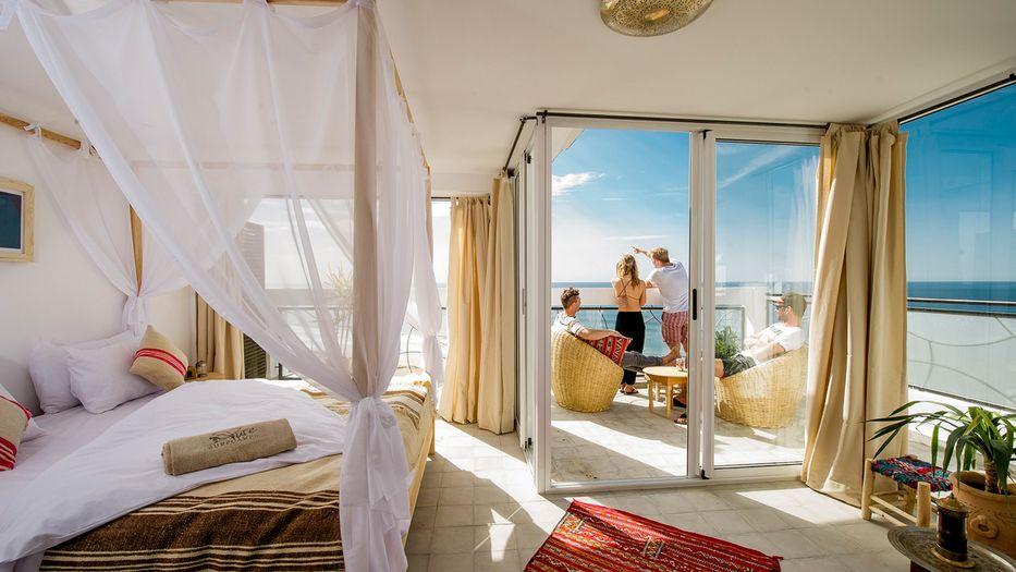 Camere Da Letto Marocco : Sea view surf camp house marocco onde surfspot e vacanze